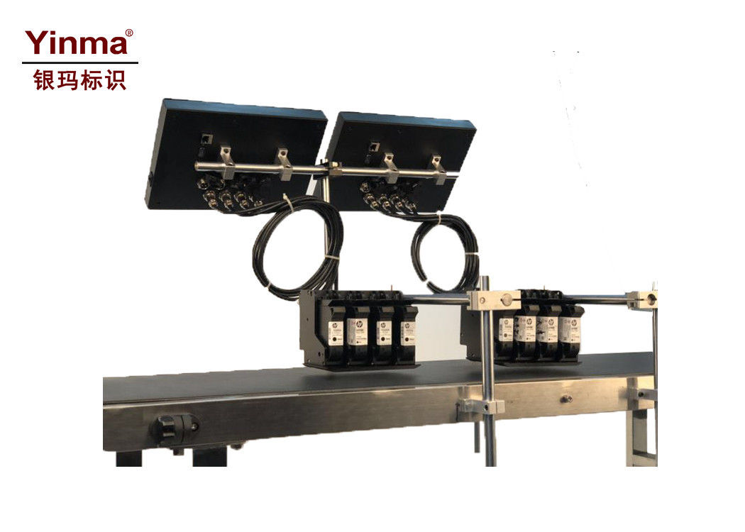 Multi Printhead Inkjet Printer For Packaging / Paper High Resolution